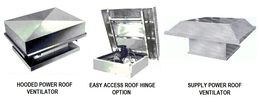 Canadian Blower Hooded Roof Exhaust Ventilators